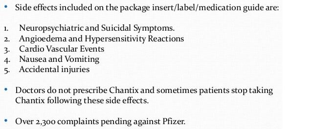 chantix side effects